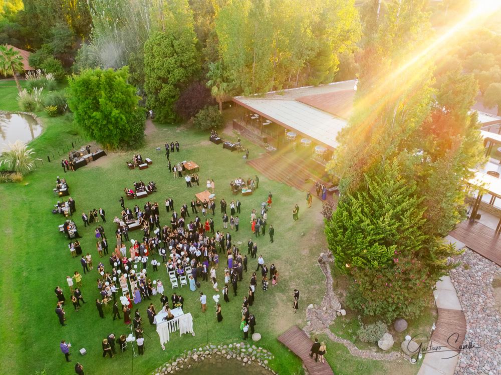 casamiento en el salon terra oliva, ceremonia civil al aire libre, imagenes aereas